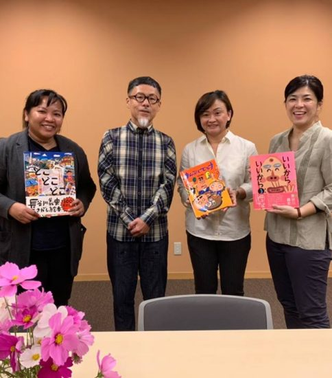絵本作家の長谷川さんとご一緒させていただきました!